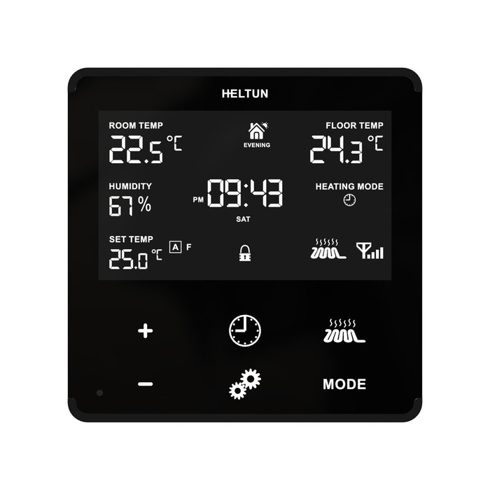 Heltun Heating Thermostat (fekete-fekete)